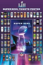 NFL SUPER BOWL HISTORY SUPER TICKETS LII (Minnesota 2018) Official POSTER