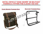 Royal Enfield Dark Brown RH Military Pannier & Fitting For Classic 350 500