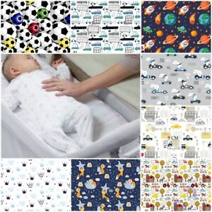 2x  FITTED SHEETS compatible with CHICCO NEXT 2 ME crib bed cover BOYS CARS BALL