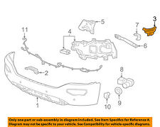 GMC GM OEM 2016 Sierra 1500 Front Bumper-Side Retainer Bracket Left 23496952