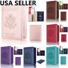 RFID Blocking Leather Passport Holder ID Credit Card Cover Case Travel Wallet