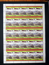 TUVALU 1984 Railway 30c Unwatermarked Paper Cat £112 SEE BELOW FP7401