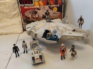 Vintage Star Wars Palitoy Return of the Jedi Millennium Falcon Boxed, Figures.