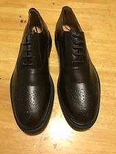 Men's Wing Tip Dress Shoes Two Tone Brogue Lace Up Oxfords