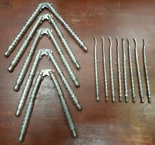 Vintage Set of 5 Stainless Steel Nut Crackers with 8 Picks