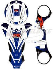 ADESIVI 3D BLU PROTEZIONI GSX-R compatibili per MOTO suzuki GSXR 600-750 2006-15