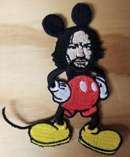 MICKEY MANSON embroidered Patch - Iron On- FREE SHIPPING! Charles Mouse