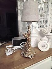 Stunning Vintage refurbished French rococo Gilt  Cherub   Lamp ,linen shade