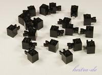LEGO - 20 x Stein 1x1 schwarz mit Clip waagerecht / Halter / 30241 NEUWARE