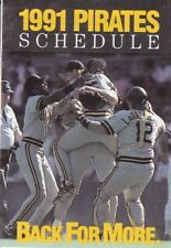 1991 PITTSBURGH PIRATES POCKET SCHEDULE