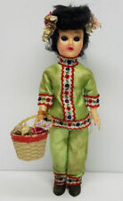Vintage Standard Doll Company Little Asian Girl Doll w/ Tag 7 1/2''