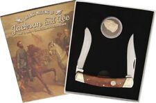 Rough Rider Civil War Moose Pocket Knife Stainless Blade Smooth Bone Handle