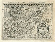 Original antique map of the Holy Land from 1617 by Giovanni Antonio Magini