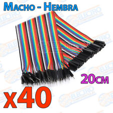 40x Cables 20cm Macho Hembra jumper dupont 2,54 arduino protoboar cable