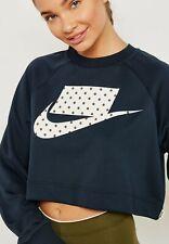 Nike Sportswear Women's Crop Crew Pullover Sweater Sweatshirt Large 931826 475