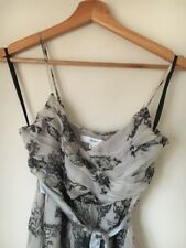 Dress Party Size 8 Strappy Lined Grey Next <T15033