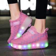 Usb Charging Glowing Sneakers On Wheels Kids Led Shoes Luminous Sneakers