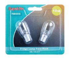 10W Nevera Lámparas Paquete de 2 lámparas SupaLite 10W Nevera T20-E14 base