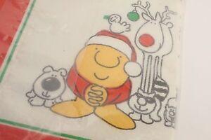 Ziggy & Fuzz Dog paper tablecloth NEW Vtg HOLIDAY Christmas Table Cover NIP USA
