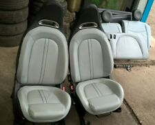 FIAT 500 ABARTH GREY LEATHER SEATS / INTERIOR FRONT + REAR SEATS + DOOR CARDS ~