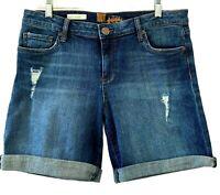 Kut From the Kloth Katy Boyfriend Shorts Size 10 Distressed Womens