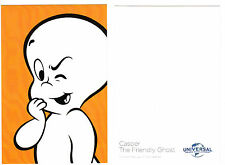 "2017 UNIVERSAL CASPER THE FRIENDLY GHOST PROMOTIONAL PROMO CARD 4"" X 6"""