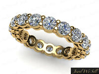 3.0Ct Round Open Gallery Shared Prong Diamond Eternity Band Ring 10K Gold G-H I1