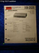 Sony Service Manual XM 2025 Power Amplifier (#2891)