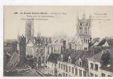 Grande Guerre 1914-15 Bataille de l'Yser Ypres Apres Bombardement Postcard 142a
