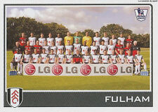 N°172 FULHAM.FC TEAM Premier League 2009-2010 TOPPS STICKER VIGNETTE