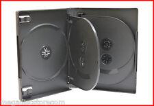 27mm Full Size 8 Tray Multi DVD Case Black Eight Discs Holder Box 2 Pk Prem