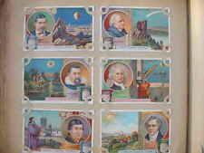 12649 LIEBIG Bilder Serie A666 Astronomen um 1900 6 cards on the beach astronomy