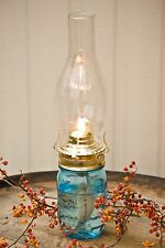 Mason Jar Oil Lamp, Pint Lantern Set, for Power Outages, Camping-New(green jar)