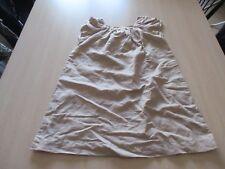 Robe - beige - 6 ans - coton et lin - neuve