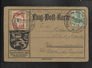 DR Flugpost 1912 Postkarte Offenbach