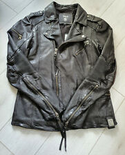 TIGHA Herren Biker Lederjacke James `10 Black Size M