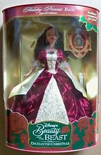 1997 Barbie Disney's Beauty and the Beast Holiday Princes Belle Brunette NIB