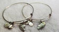 Silver Alex and Ani Best Friends Bracelet  set.