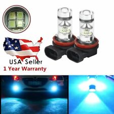 CREE H8 / H11 100W 3600LM LED Headlight Fog Light Lamps Blue 8000K Car Bulbs E