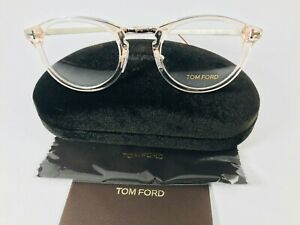 New Authentic Tom Ford Eyeglasses TF 5467 072 Clear Pink 48-22-145 NWT