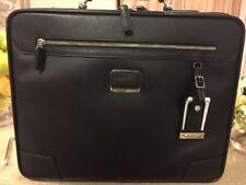 "Tumi Mills Slim Leather Brief 12.5""x15.75""x3.25"" Briefcase - Black $795"
