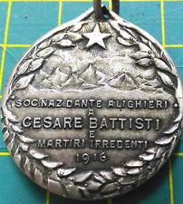 1916 Medaglia MEMINISSE JVV ABIT - Soc. Naz. D. Alighieri a Cesare Battisti