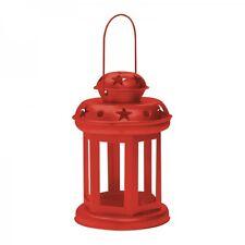 X-Mas Art Metall Laterne für Teelichter in Rot - Weihnachtsbeleuchtung - NEU