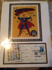 Superman DC Comics Super Heroes Matted Stamp Art USPS First Day of Issue 2006