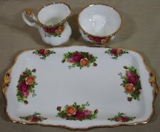 Royal Albert Old Country Rose Sugar Bowl Creamer Sandwich/Cookie Tray England Y1