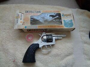 kids  toy lone star detective diecast metal super shot flippy ring cap in box