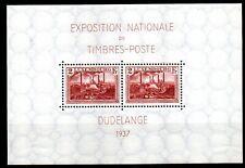 LUXEMBOURG - exposition de timbres DUDELANGE 1937 - bloc 2 - cote 13,00 euros.