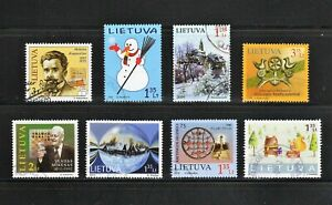 Lithuania -- 8 diff used commemoratives from 2009 -13 -- cv $9.40