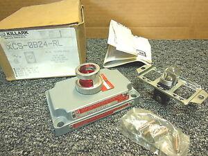 Killark XCS-0B24-RL Pilot Light red lens with device 120V hazardous location