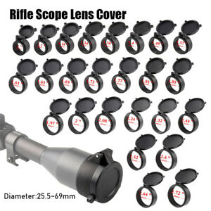 Flip Up Scope Covers Rifle Scope Protect Objective Cap Lens Cover for Caliber